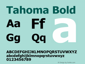 Tahoma Bold Version 3.15 Font Sample