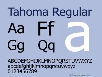 Tahoma Regular Version 5.01.2x Font Sample