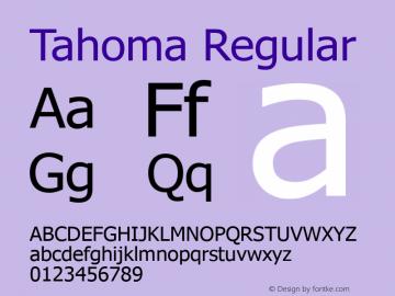 Tahoma Regular Version 5.06 Font Sample