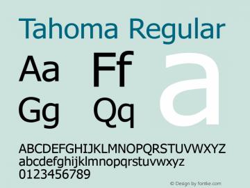Tahoma Regular Version 5.10 Font Sample