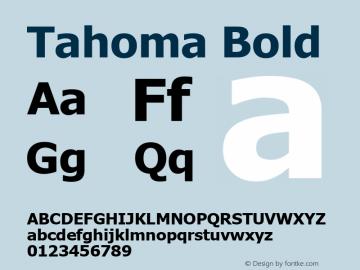 Tahoma Bold Version 5.12 Font Sample