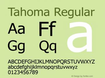 Tahoma Regular Version 5.12 Font Sample