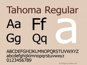 Tahoma Regular Version 5.25 Font Sample