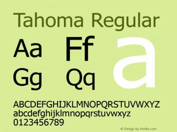 Tahoma Regular Version 5.26 Font Sample