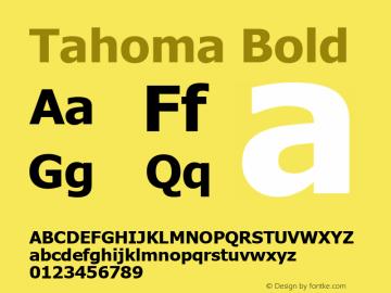 Tahoma Bold Version 5.20 Font Sample