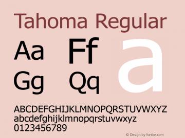 Tahoma Regular Version 5.20 Font Sample