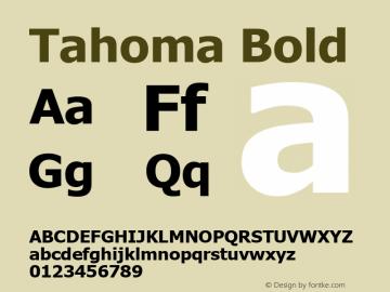 Tahoma Bold Version 5.01 Font Sample