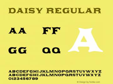 Daisy Regular Macromedia Fontographer 4.1.5 9/16/00 Font Sample
