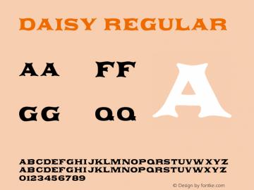 Daisy Regular 001.000 Font Sample