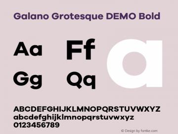 Galano Grotesque DEMO Bold Version 1.000;PS 001.000;hotconv 1.0.70;makeotf.lib2.5.58329 Font Sample