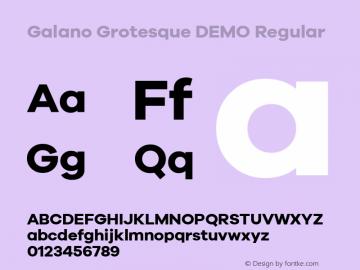 Galano Grotesque DEMO Regular Version 1.000;PS 001.000;hotconv 1.0.70;makeotf.lib2.5.58329;com.myfonts.easy.rene-bieder.galano-grotesque.demo-bold.wfkit2.version.4kJA Font Sample