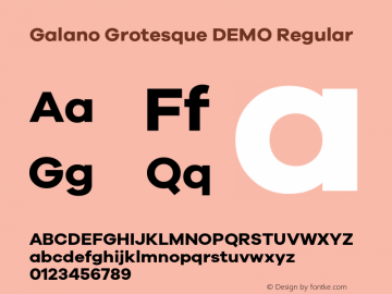 Galano Grotesque DEMO Regular Version 1.000;PS 001.000;hotconv 1.0.70;makeotf.lib2.5.58329;com.myfonts.easy.rene-bieder.galano-grotesque.demo-bold.wfkit2.version.4kJA图片样张