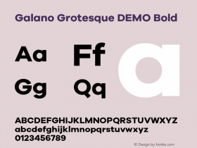Galano Grotesque DEMO Bold Version 1.000;PS 001.000;hotconv 1.0.70;makeotf.lib2.5.58329 Font Sample