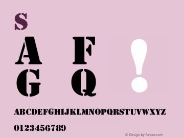Stencil normal Version 001.003 Font Sample
