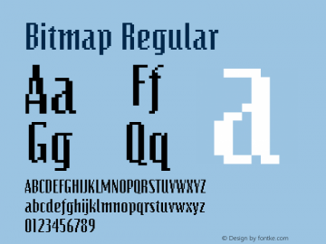 Bitmap Regular The IMSI MasterFonts Collection, tm 1995 IMSI Font Sample
