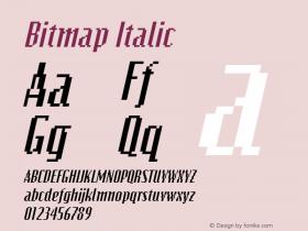 Bitmap Italic The IMSI MasterFonts Collection, tm 1995 IMSI Font Sample