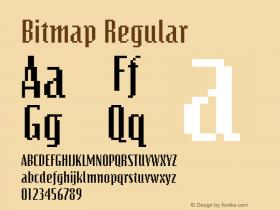 Bitmap Regular The WSI-Fonts Professional Collection Font Sample