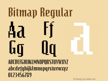 Bitmap Regular The WSI-Fonts Professional Collection Font Sample
