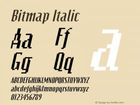 Bitmap Italic The IMSI MasterFonts Collection, tm 1995, 1996 IMSI (International Microcomputer Software Inc.) Font Sample
