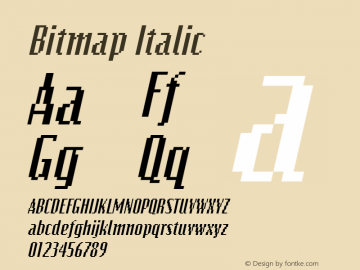 Bitmap Italic The IMSI MasterFonts Collection, tm 1995, 1996 IMSI (International Microcomputer Software Inc.) Font Sample