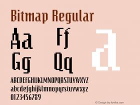 Bitmap Regular The IMSI MasterFonts Collection, tm 1995, 1996 IMSI (International Microcomputer Software Inc.) Font Sample