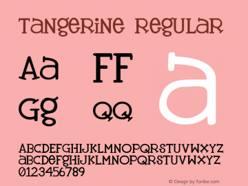 Tangerine Regular [disturbed.productions] version 2.0 - -  jan 12, 1998 Font Sample
