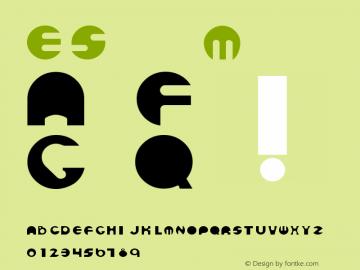 ESpheres Medium Version 001.001 Font Sample