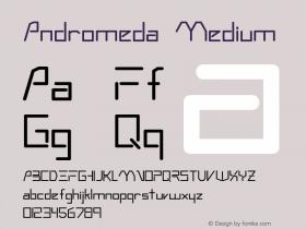 Andromeda Medium Version 001.001 Font Sample