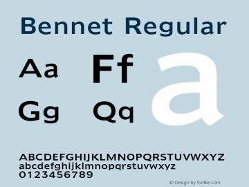 Bennet Regular Version 1.000 Font Sample