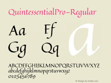 QuintessentialPro-Regular ☞ Version 1.000;com.myfonts.stiggy-sands.quintessential-pro.regular.wfkit2.4223 Font Sample