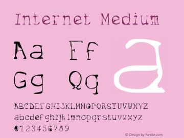 Internet Medium Version 001.000 Font Sample