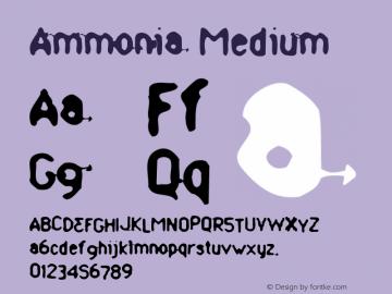 Ammonia Medium Version 1.00 Font Sample