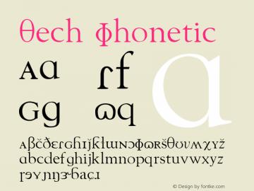 Tech Phonetic Version 001.000 Font Sample