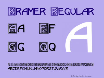 Kramer Regular Unknown Font Sample