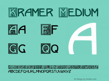 Kramer Medium Version 001.000 Font Sample