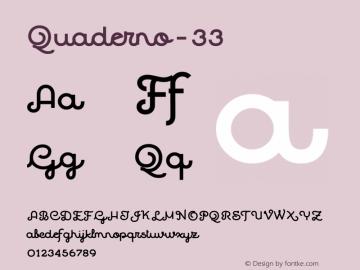 Quaderno-33 ☞ Version 1.000;PS 001.000;hotconv 1.0.70;makeotf.lib2.5.58329;com.myfonts.easy.resistenza.quaderno.33.wfkit2.version.4kZH Font Sample