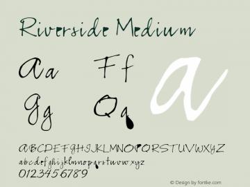 Riverside Medium Version 001.001 Font Sample