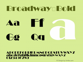 Broadway Bold Unknown Font Sample