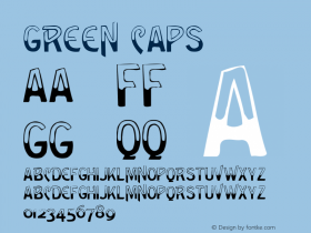 Green Caps Version 001.000 Font Sample