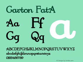 Garton FatA 1.0 Thu May 26 15:49:24 1994 Font Sample