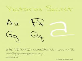 Victorias Secret Version 001.000 Font Sample