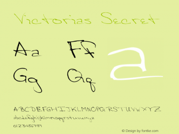 Victorias Secret Version 001.000 Font Sample