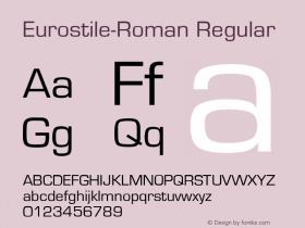Eurostile-Roman Regular Unknown Font Sample