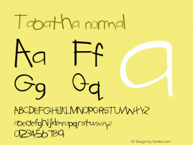 Tabatha normal Version 001.003 Font Sample