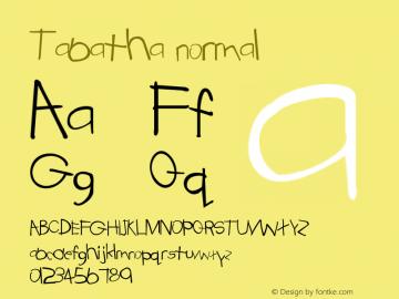 Tabatha normal Version 001.003 Font Sample