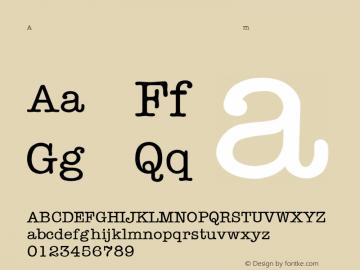 AmericanTypewriter-Light Regular Converted from C:\TRUETYPE\TYPWRITE.TF1 by ALLTYPE Font Sample