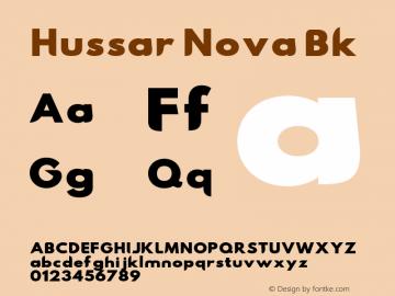 Hussar Nova Bk Version 0.99 Font Sample