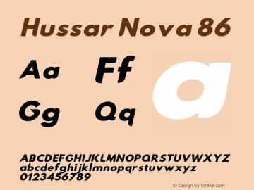 Hussar Nova 86 Version 0.99 Font Sample