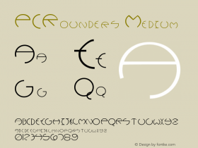 PCRounders Medium Version 001.001 Font Sample