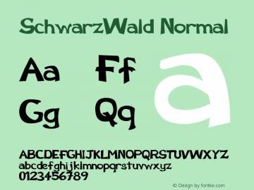 SchwarzWald Normal Version 001.001 Font Sample